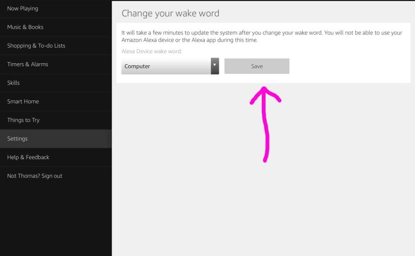 How to Change Amazon Echo Dot Wake Word