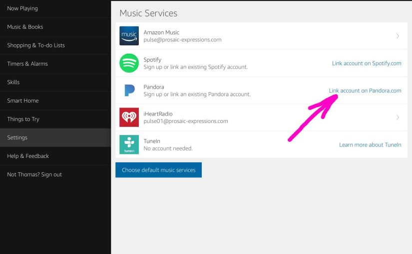 How to Link Pandora to Alexa Devices