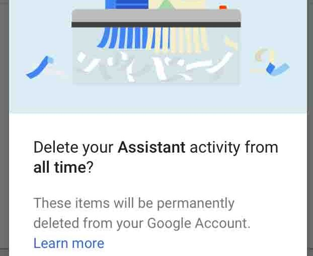 How to Delete Google Home Voice Recording History