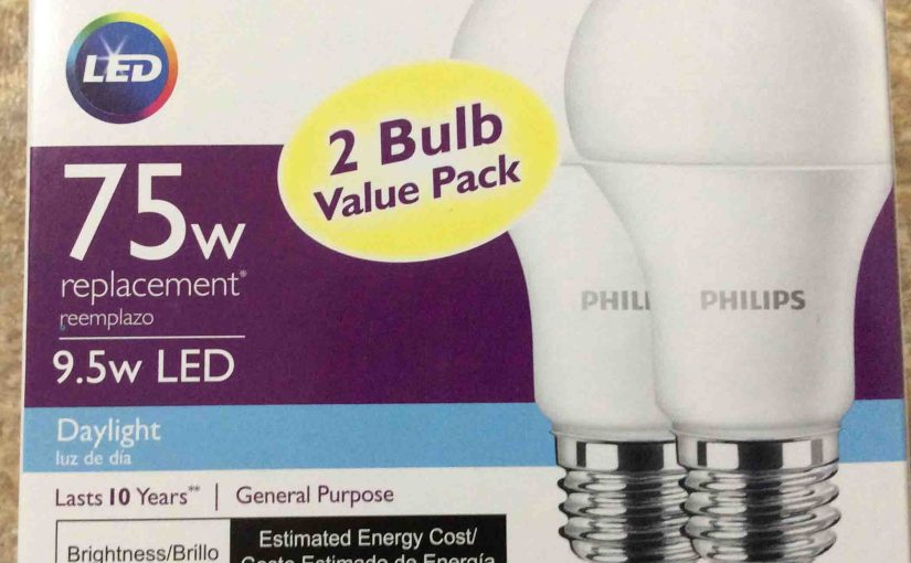 Philips LED A19 75 Watt Daylight White Light Bulb Review