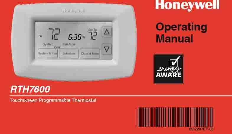 honeywell rth7600d manual, installation, user - tom's tek stop  tom's tek stop