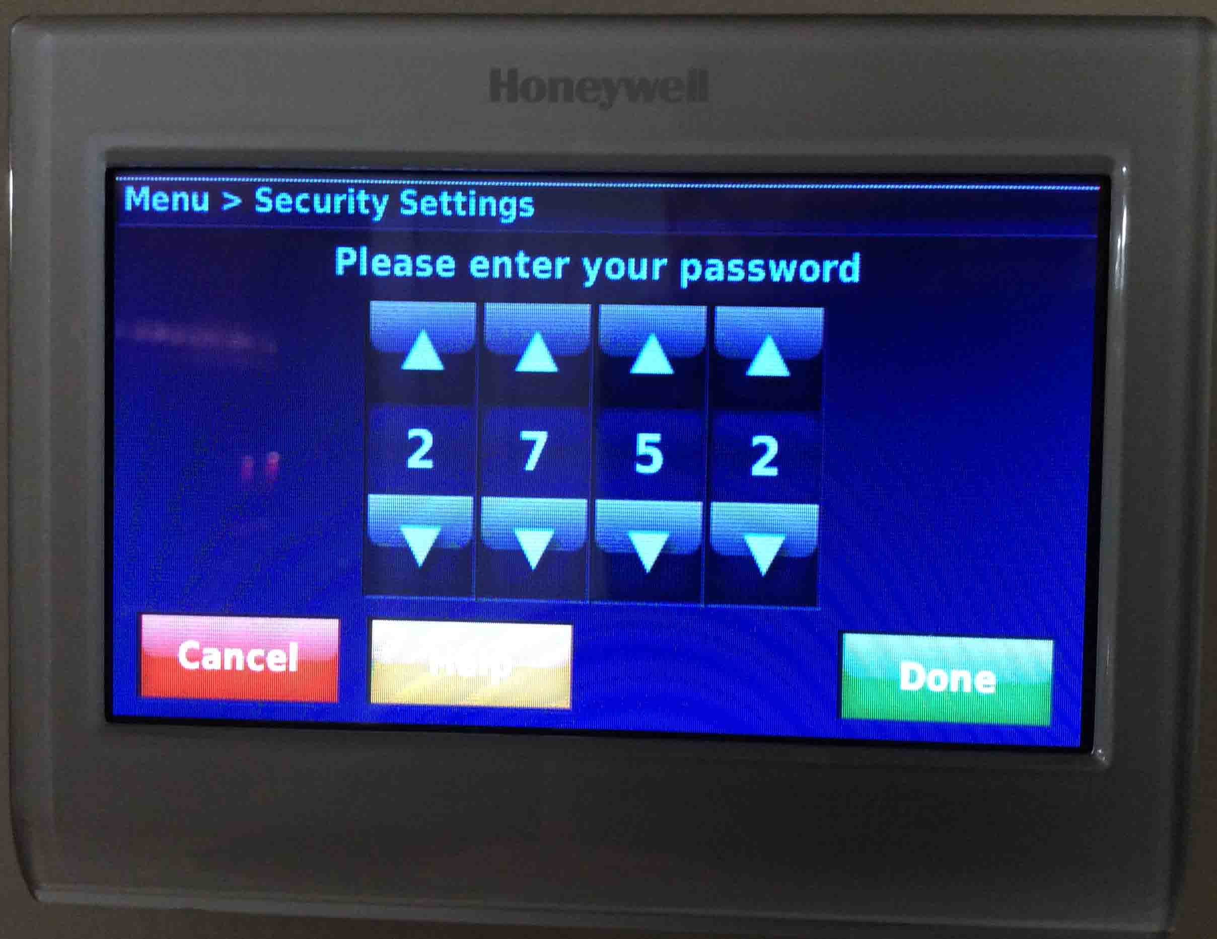 Honeywell Thermostat Troubleshooting Codes Today Manual Guide Heat Pump Unlock Screen On Wiring Color Code