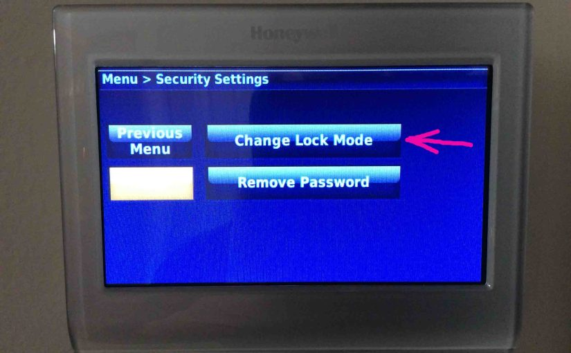 Locking Honeywell Thermostat Instructions