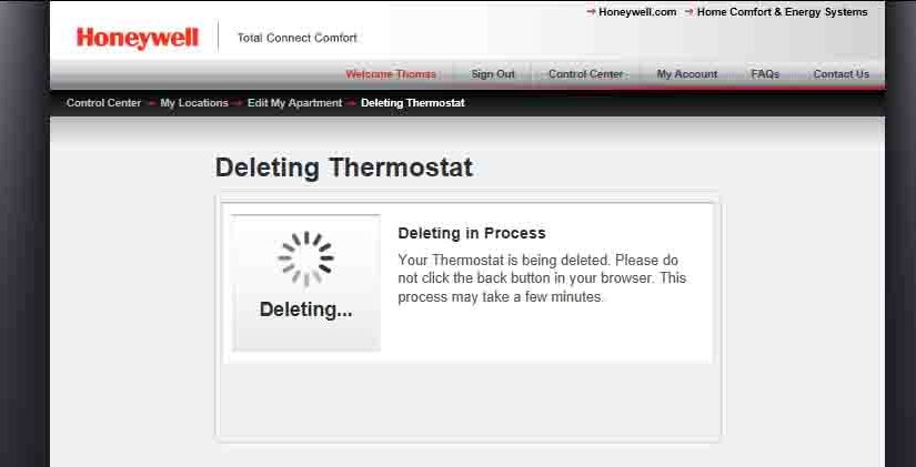 How to Unregister Honeywell WiFi Thermostat RTH9580WF