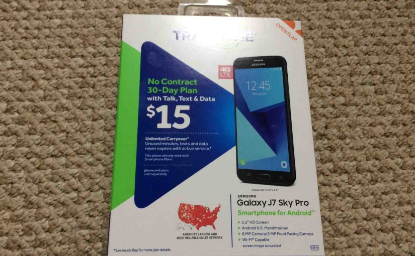 Unboxing the Samsung Galazy J7 Sky Pro Tracfone Smart Phone