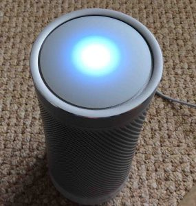 Picture of the Harman Kardon Invoke speaker light pattern, as displayed when the speaker is talking.