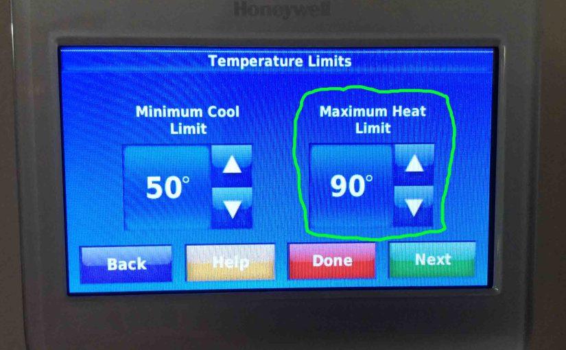 Set Temperature Range Honeywell Thermostat RTH9580WF