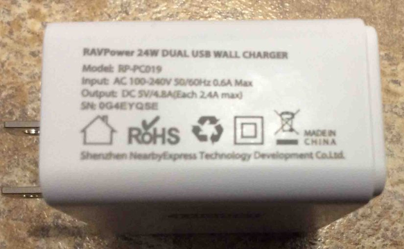 RavPower 24w Wall Charger Review, USB, Dual Port