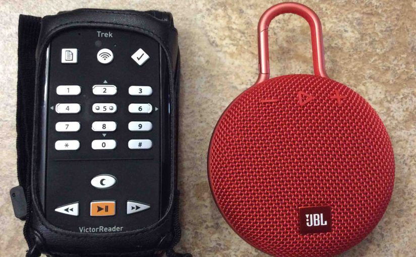 Pairing Victor Reader Trek with JBL Clip 3 Bluetooth Speaker, How To