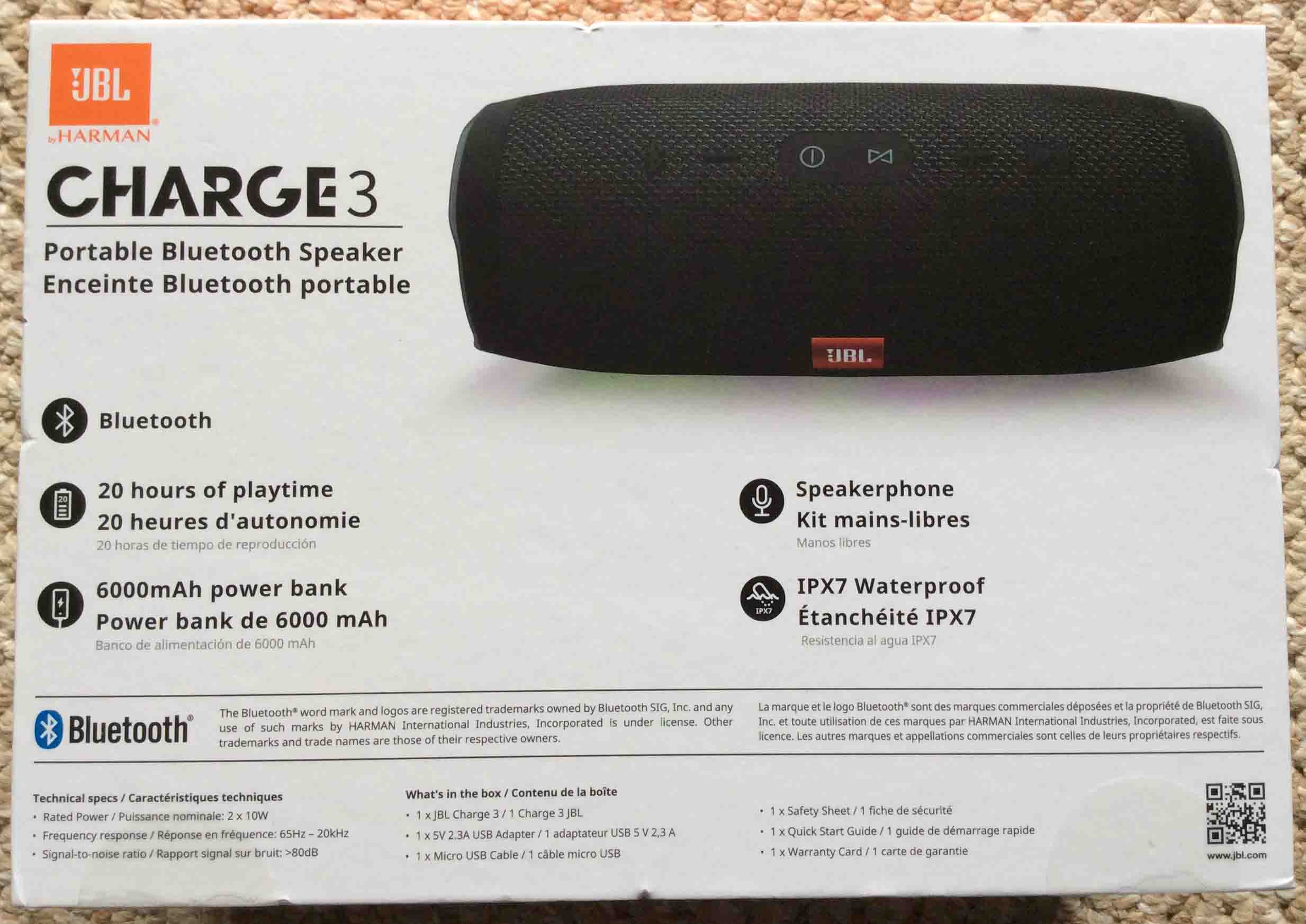 Jbl Charge 3 Waterproof Wireless Bluetooth Speaker Picture Gallery Mini Portable Charger 1