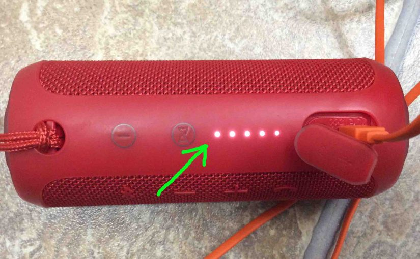 JBL Flip 3 Charging Indicator Shows How Full Battery Is