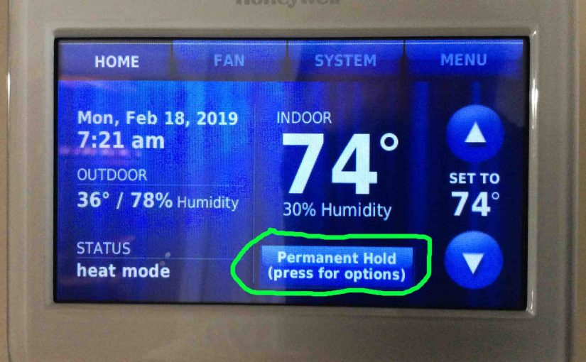 How to Set Permanent Hold on Honeywell Thermostat