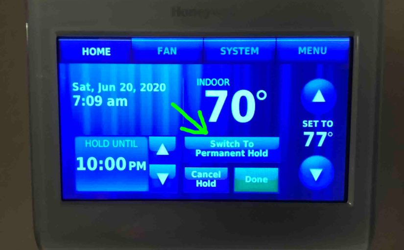 How to Turn on Permanent Hold on Honeywell Thermostat