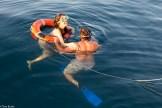 Swimming couple