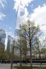 The Freedom Tower, from the WTC Memorial plaza.