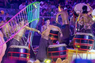 Chinese drummers. This was one of the best 'hold up the camera, press the button, and hope' shots