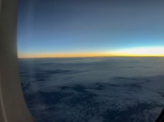 Sunset at 40,000 ft