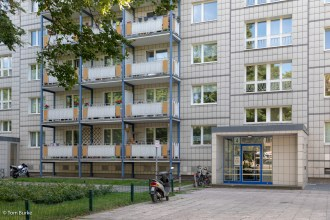 GDR era apartment block