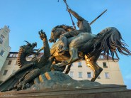 Statue of St George in the Nikolaiviertal quarter