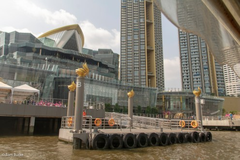 The upmarket IconSiam Mall & pier, plus high-rise apartments