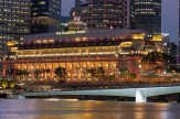 The Fullerton Hotel and the Esplanade footbridge in front of it