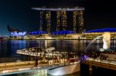 MBS, Marina Bay and the Merlion