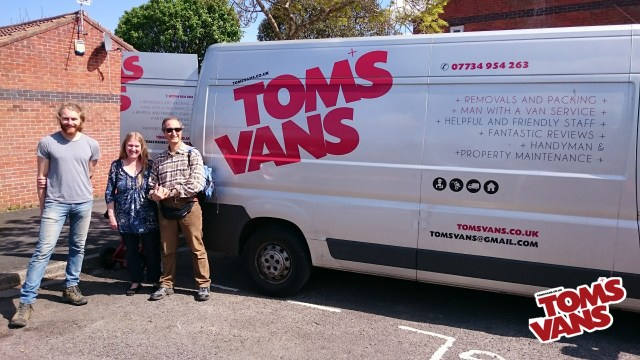 Tom's Vans your Local Man with a Van were established in 2010 as Brighton's most professional delivery and removal service!