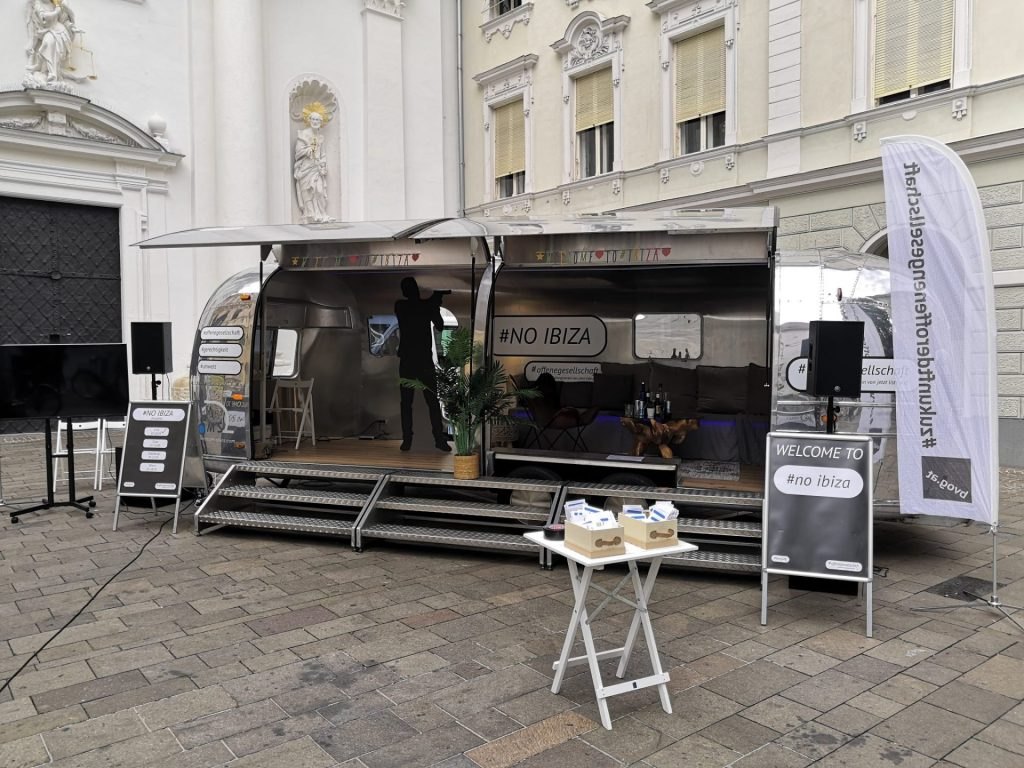 Airstream Mobile Bühne unterwegs für das BVOG Graz