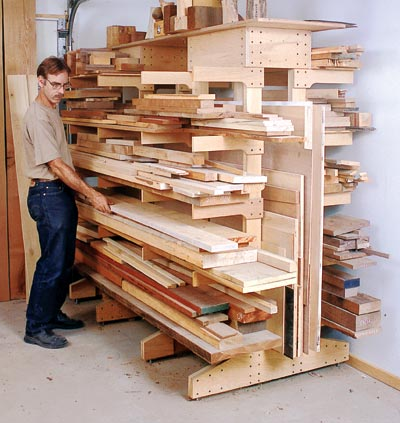 Lumber Storage Rack Diy