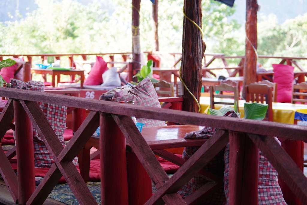 バンビエンのカフェ