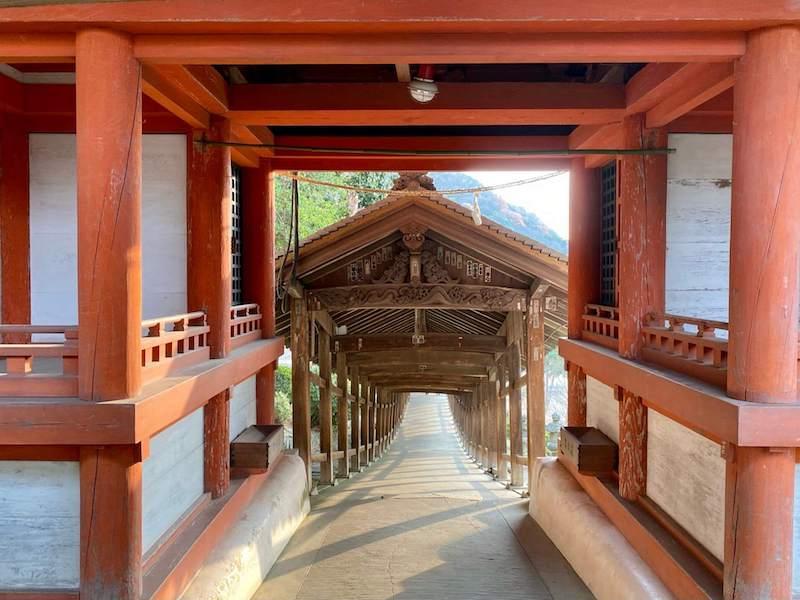 吉備津神社の廻廊