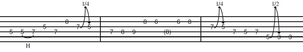 country intro lick in C