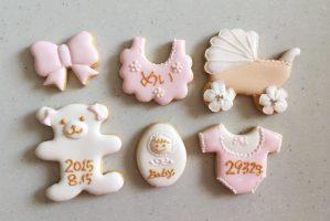 女の子内祝いクッキー