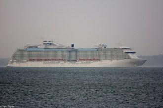 Royal Princess in the Solent June 2013