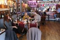 Chatting at Rabbie Burns Pub.