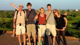 Aan de achtergrond te zien is dit Bagan
