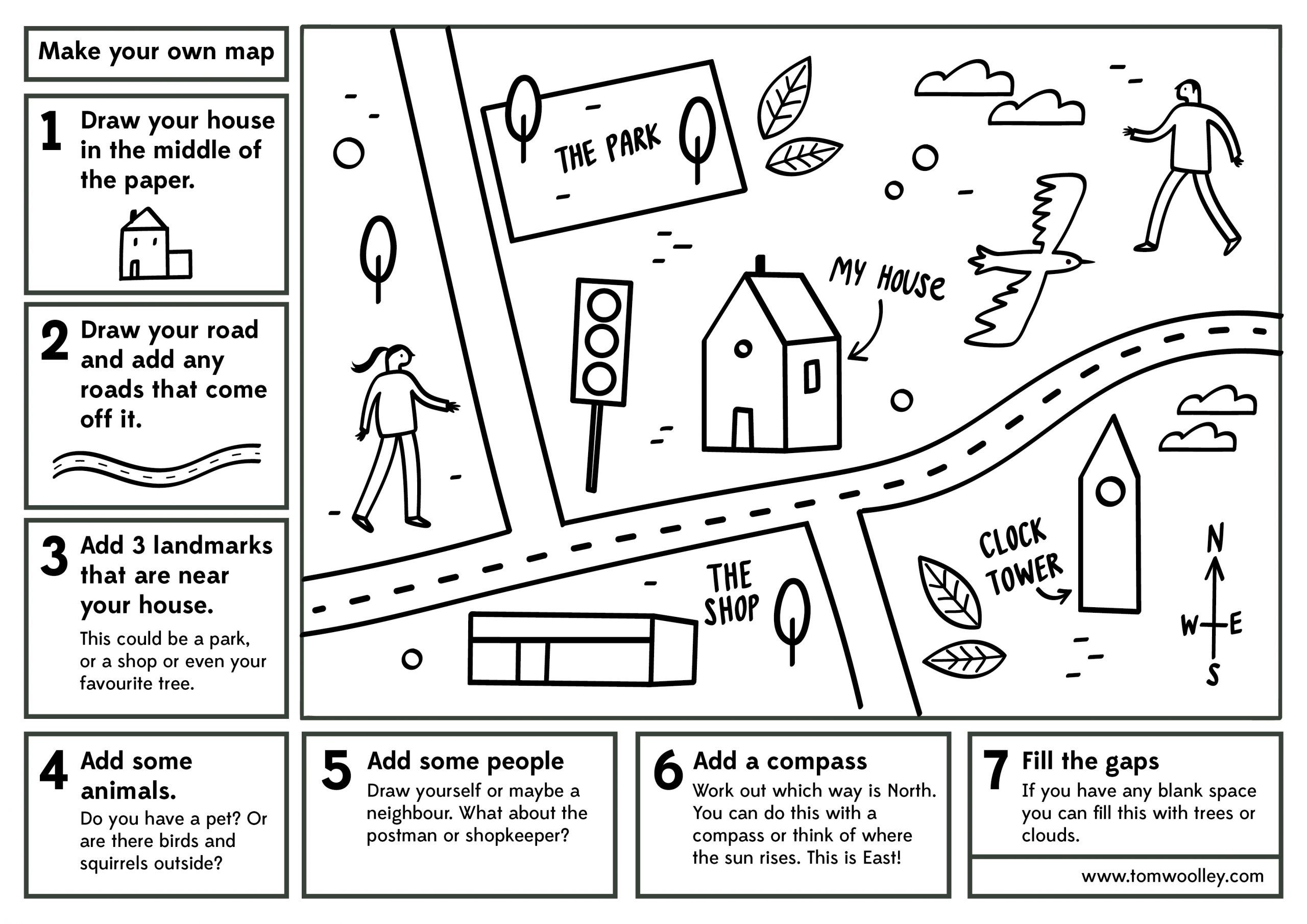 Make Your Own Map Free Worksheet Illustrated Maps