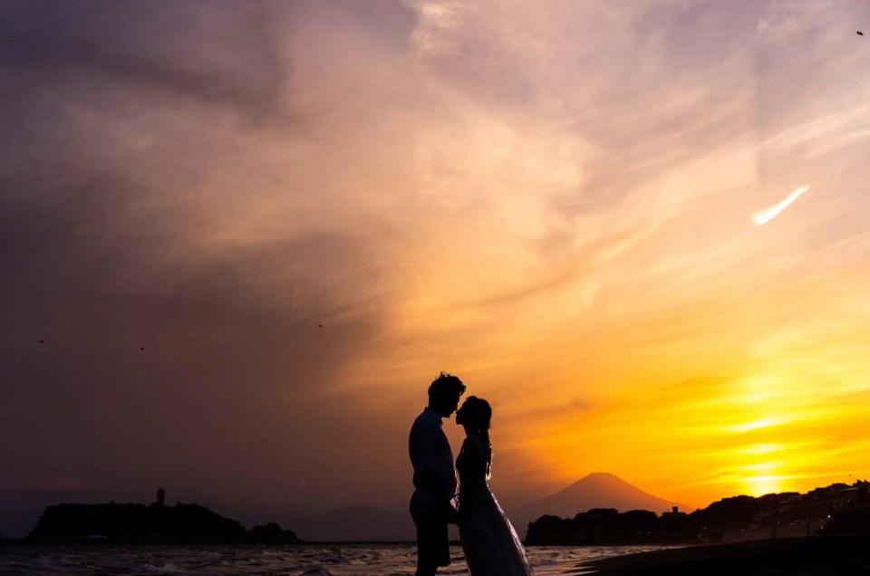 洋装ドレス前撮り撮影 – 湘南葉山・七里ガ浜 –