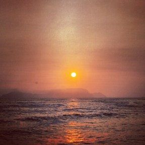 Sunset On Pacific Ocean in Lima