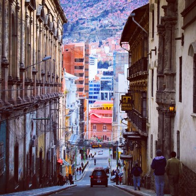 A Beautiful Street in La Paz