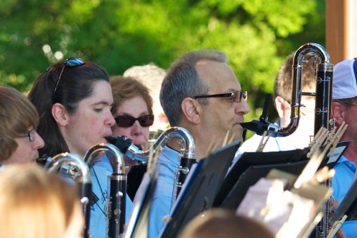 Crystal Lake Community Band bass clarinets