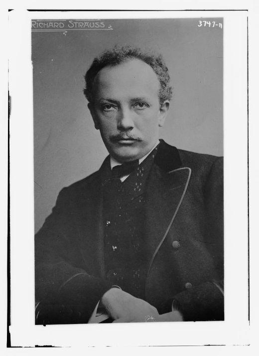 A photograph of composer Richard Strauss
