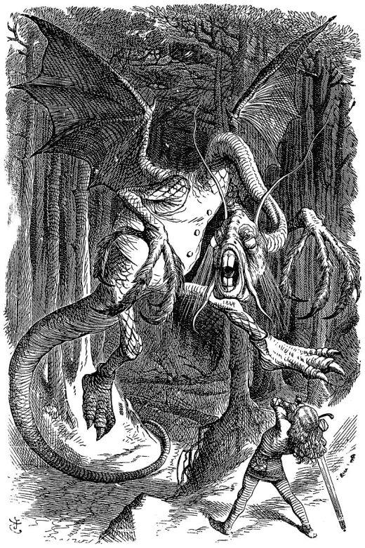 Jabberwock as illustrated by John Tenniel