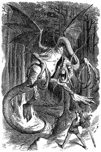 Jabberwock as illustrated by John Tenniel
