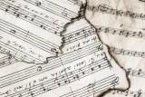 Singed music paper