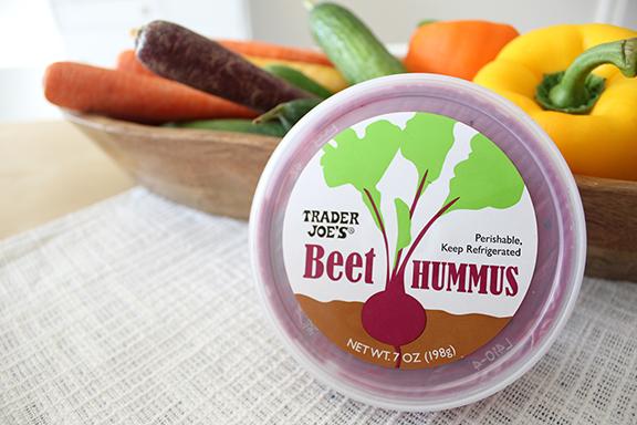 Beet Hummus from Trader Joe's!