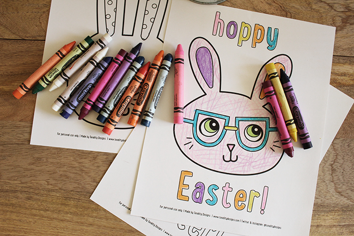 FREE Easter Coloring Sheets from Tonality Designs