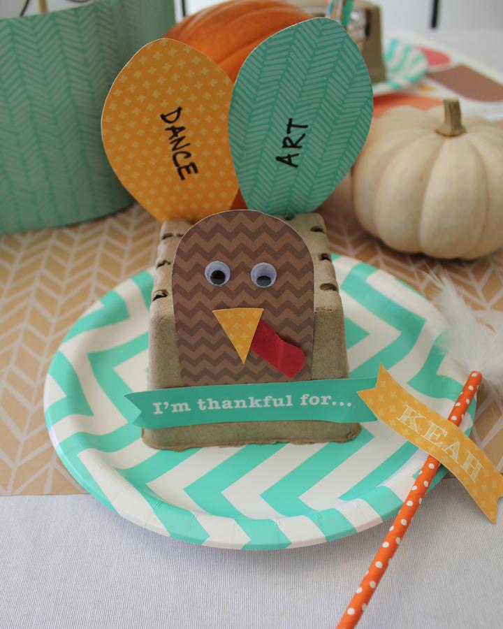 DIY Thankful Turkey Kids Craft for Thanksgiving