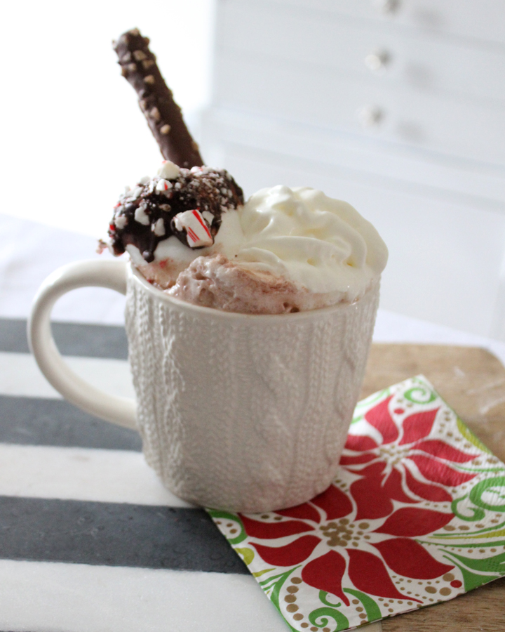 Homemade Hot Chocolate Mix & Chocolate-Peppermint Marshmallows