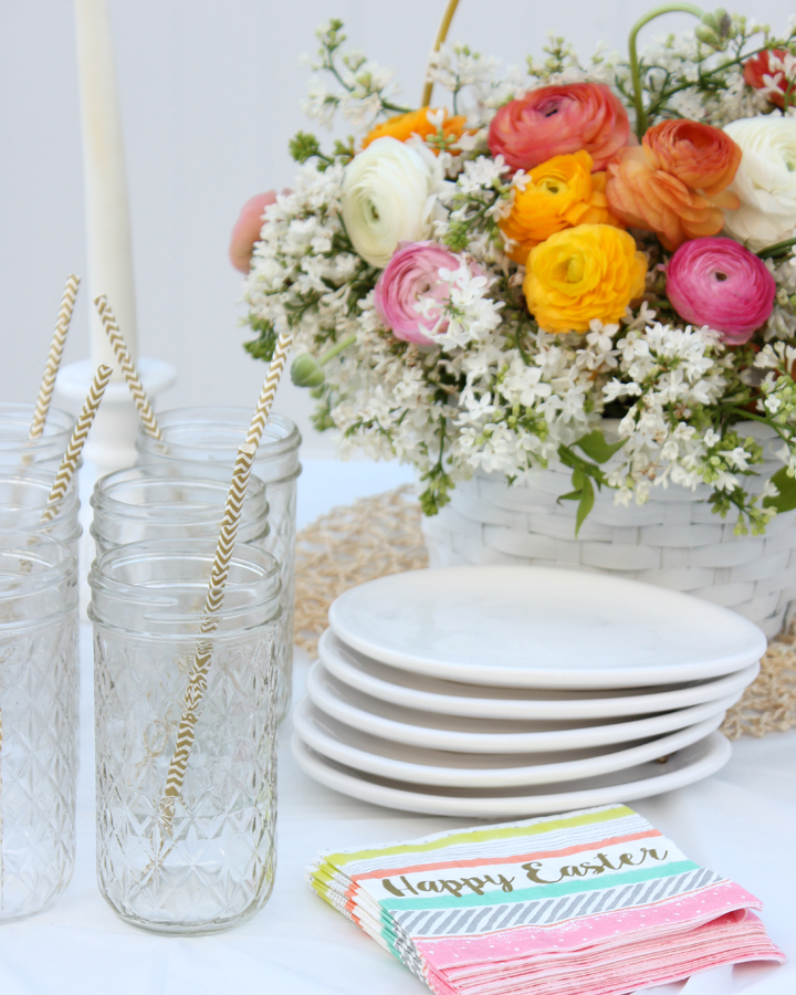 Setting an Easter Table for Both Kids and Adults
